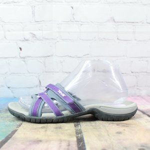 TEVA Purple Nylon Tirra Slide Adjustable Strappy Casual Sandals Size 7